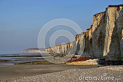 Cliffs of Saint Aubin sur Mer in France