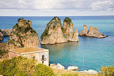 Cliffs Scopello, Sicily