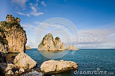 Cliffs at Scopello, Sicily, Italy