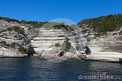 Cliffs of south Corsica, France.
