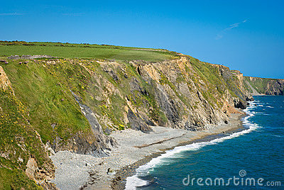 Cliffs on sunny day , Ireland