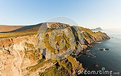 Cliffs on sunset, Ireland