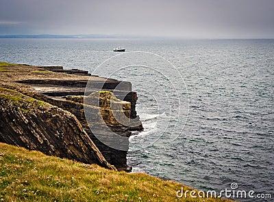 Cliffs under dramatic sky, Loop Head, Ireland