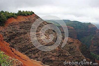 Cliffs of Waimea Canyon Hawaii