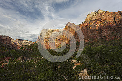 Cliffs of Zion National Park in Utah