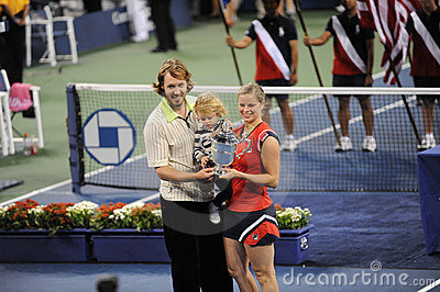 Clijsters winner of US Open 2009 (147) Editorial Stock Photo
