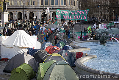 Climate Camp London Editorial Image