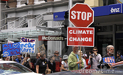 Climate Change campaign protest march Editorial Image