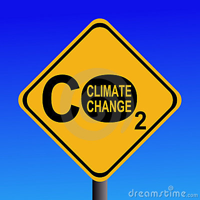 Free Climate Change CO2 Sign Stock Photography - 3996182