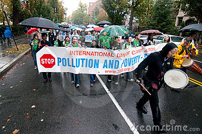 Climate Change Protest Editorial Stock Image