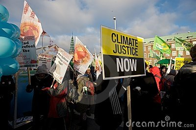Climate Justice Now! Editorial Stock Photo