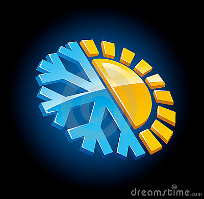 Free Climate Symbol Icon Winter And Summer Royalty Free Stock Images - 4345929