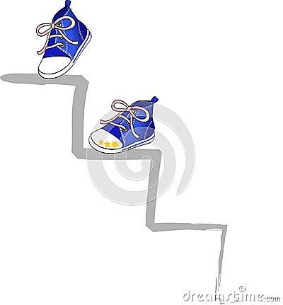 Climb in blue