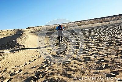 Climb sand dune