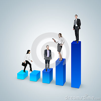 Free Climb The Career Ladder Concept. Business Success Concept. Stock Photo - 31135010