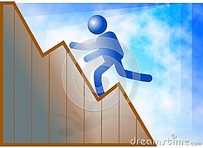 Climb to success Cartoon Illustration