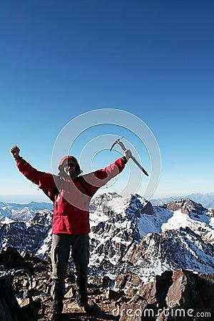 Free Climber Stock Image - 54165641