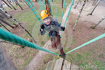 climber finished passage ropes course