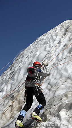Climber ice-axe training