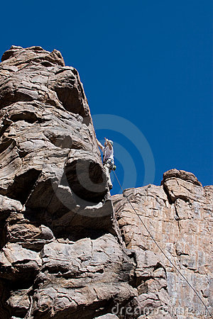 Free Climber Near The Top Stock Photography - 3568632
