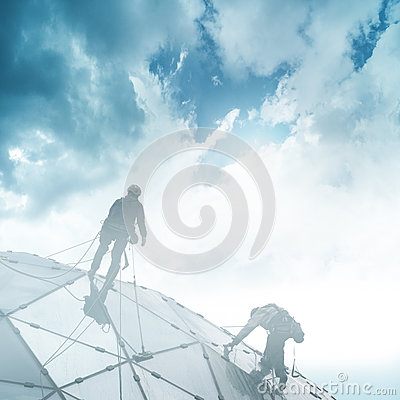 Free Climber On A Skyscraper Stock Photography - 82388372