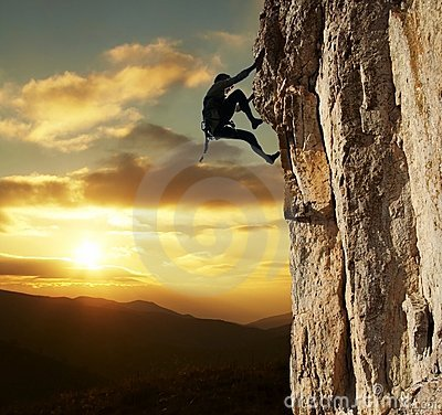 Free Climber On Sunset Stock Photos - 2050463