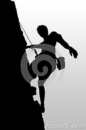 Climber pause
