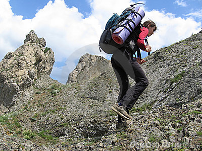 Climber on rock