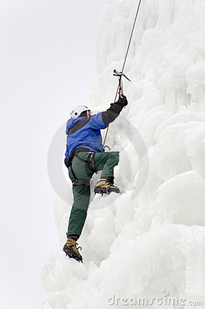 Climber In Snow
