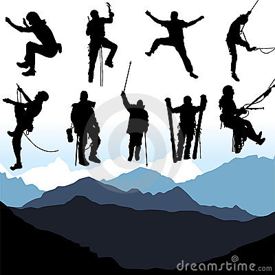 Free Climbers Set Vector Stock Images - 8121564
