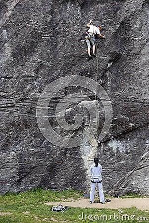 Climbing Editorial Stock Photo