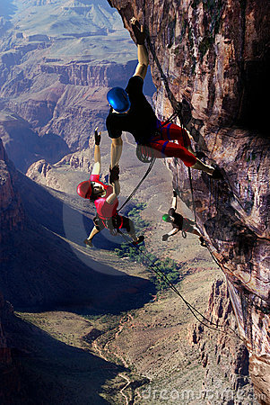 Climbing accident