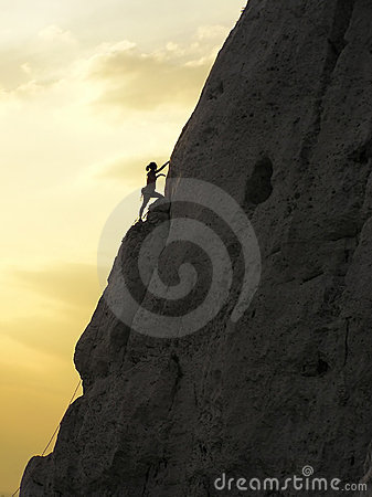 Free Climbing And A Sunset Royalty Free Stock Photography - 1846977