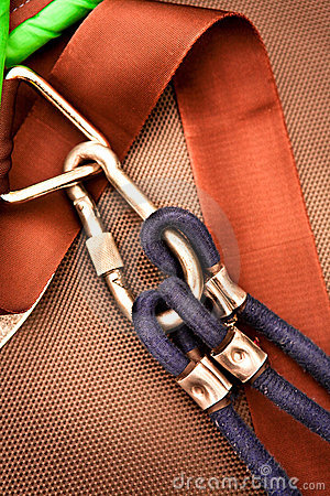 Climbing carabiner with rope