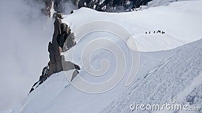 Climbing at Chamonix, France