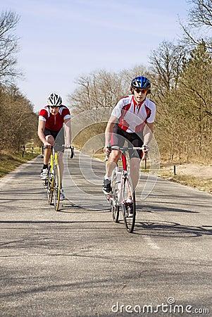 Climbing cyclists