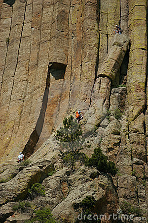 Free Climbing Devils Tower  Royalty Free Stock Images - 7326509