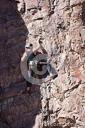Climbing on the edge of shadow