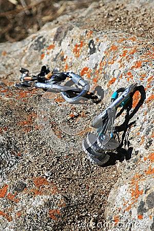 Climbing equipment on the rock