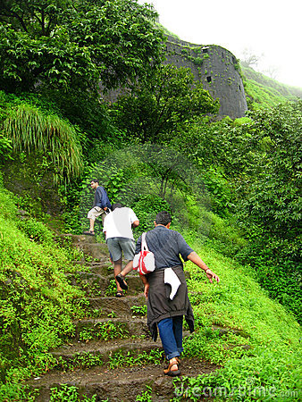 Climbing The Fort Lohgad