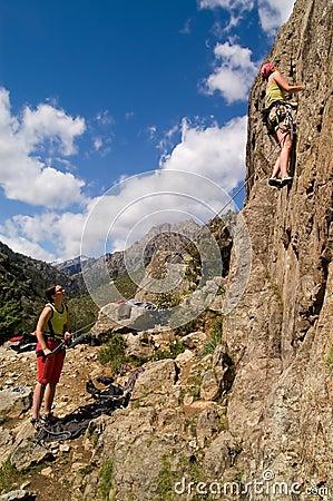 Climbing girls