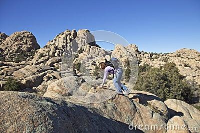 Climbing Through Granite Dells