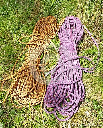 Climbing half ropes