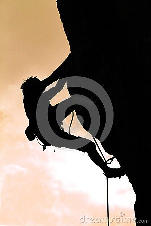 Free Climbing In The Sunset Royalty Free Stock Image - 29116746