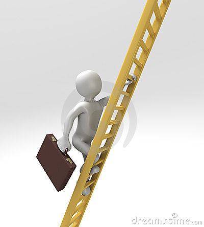 Climbing Ladder of Success (With Clipping Path)