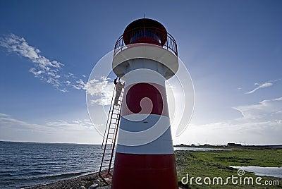 Climbing lighthouse ladder