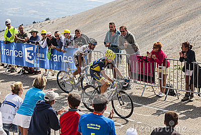 Climbing Mont Ventoux Editorial Photo