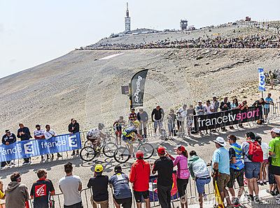 Climbing Mont Ventoux Editorial Stock Image