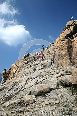 Climbing Mount Sorak