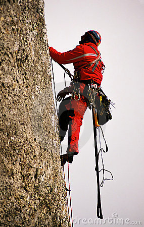 Free Climbing On Big Wall Valea Alba Royalty Free Stock Photo - 44515